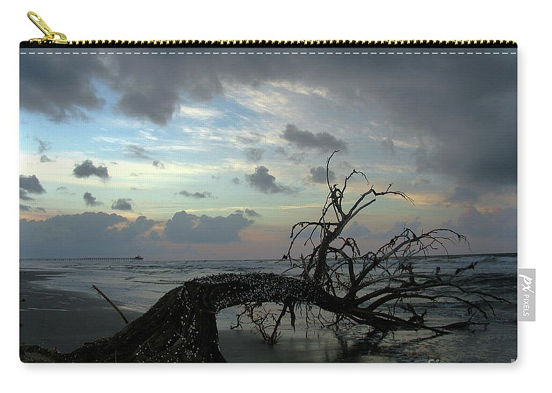Tree Carry-all Pouch featuring the photograph Beached Tree by Douglas Stucky