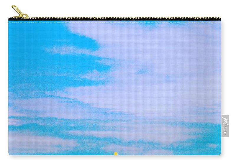 Beach Carry-all Pouch featuring the digital art Beachtime Usa by Lizi Beard-Ward