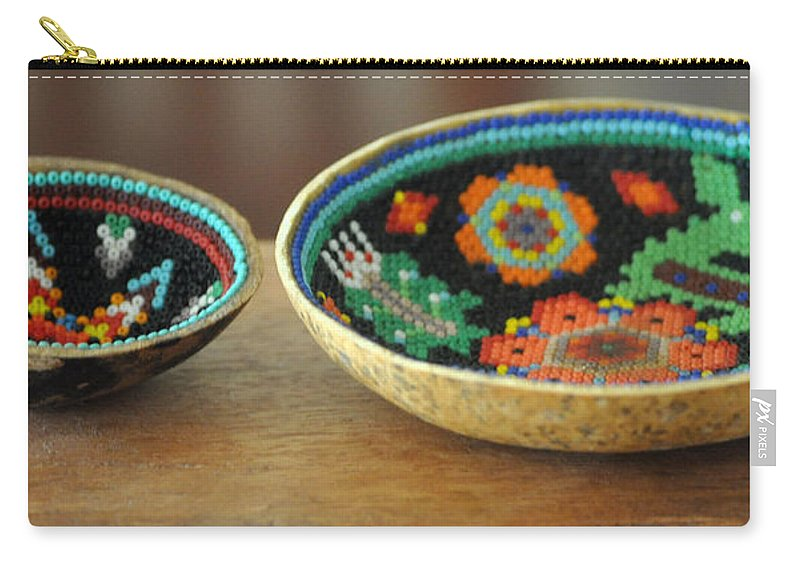 Indian Carry-all Pouch featuring the photograph Beaded Indian Baskets by Jay Milo