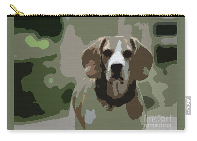 Beagle Carry-all Pouch featuring the photograph Beagle by Jivko Nakev