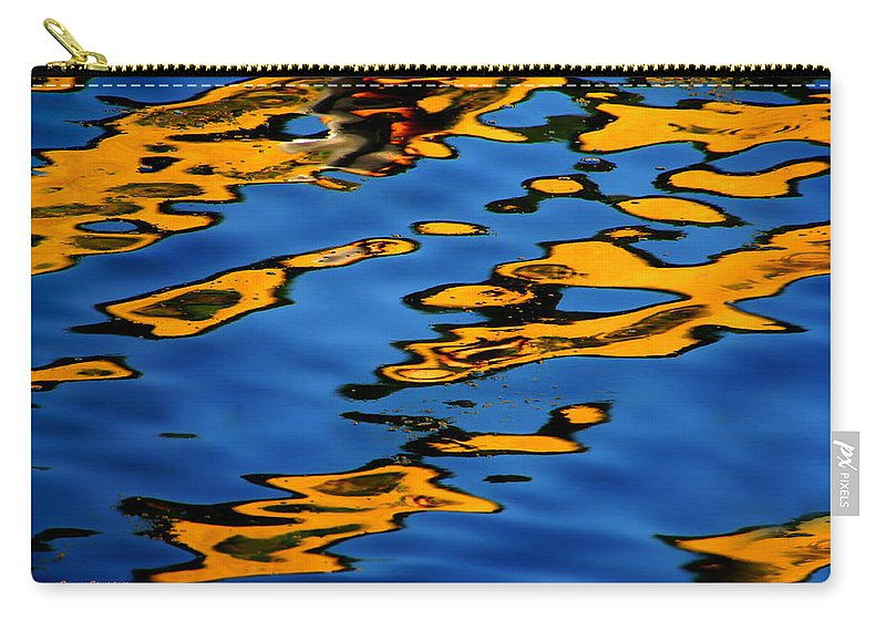 Abstract Water Carry-all Pouch featuring the photograph Beagles At Play by Donna Blackhall