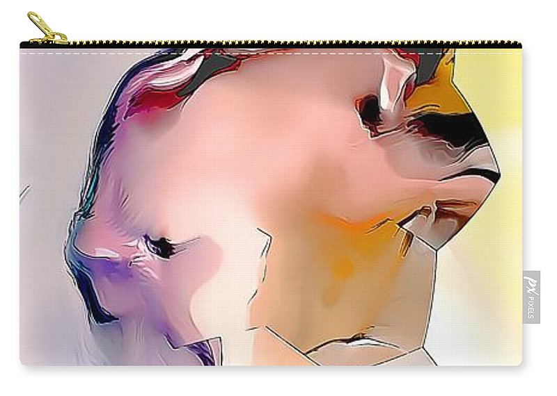 Bear Carry-all Pouch featuring the painting Bear 597-11-13 Marucii by Marek Lutek