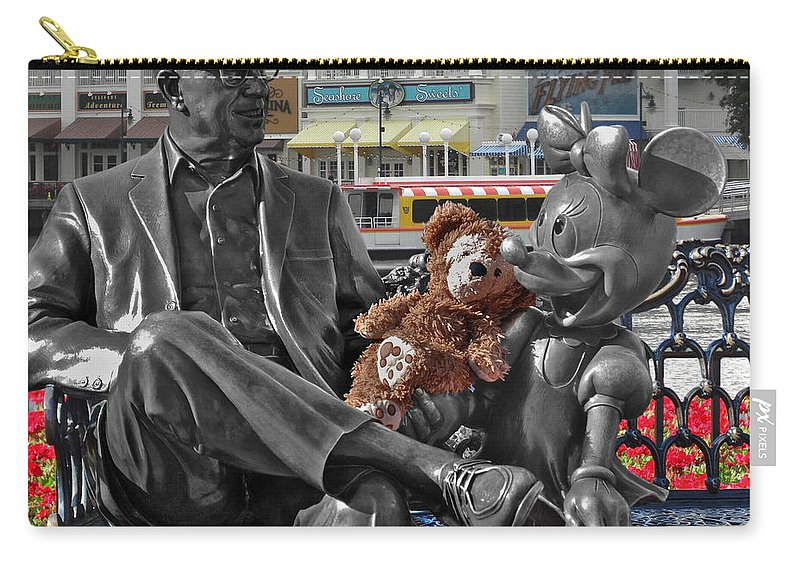 Fantasy Carry-all Pouch featuring the photograph Bear And His Mentors Walt Disney World 07 by Thomas Woolworth