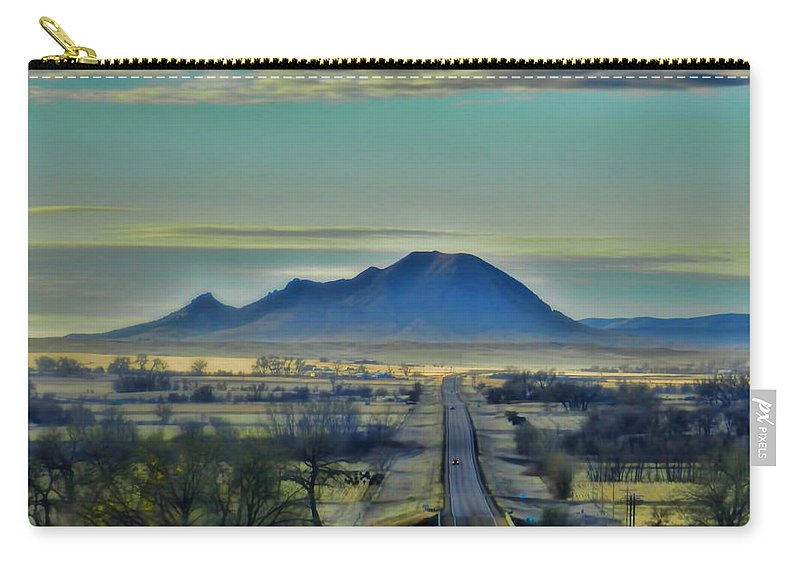 Bear Butte Carry-all Pouch featuring the photograph Bear Butte Surreal by Cathy Anderson