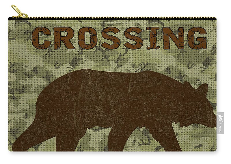 Bear Carry-all Pouch featuring the painting Bear Crossing by Jean Plout