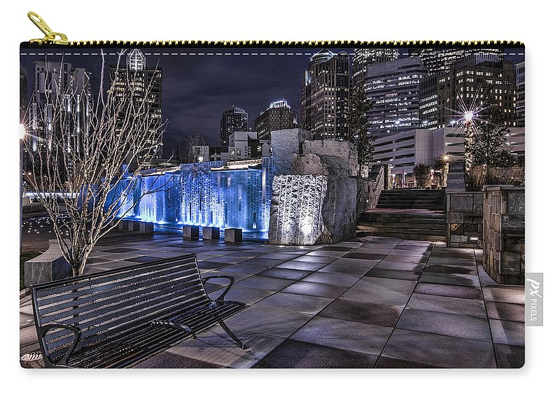 Charlotte Carry-all Pouch featuring the photograph Bearden Bench by Chris Austin