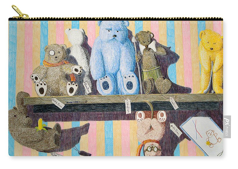 Still Life Carry-all Pouch featuring the painting Bearly There by A Robert Malcom