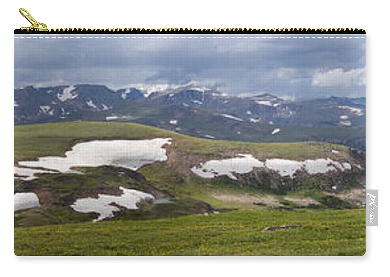 Mountain Goat Carry-all Pouch featuring the photograph Beartooth Vista by Max Waugh