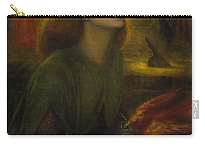 Dante Carry-all Pouch featuring the painting Beata Beatrix 1870 by Philip Ralley