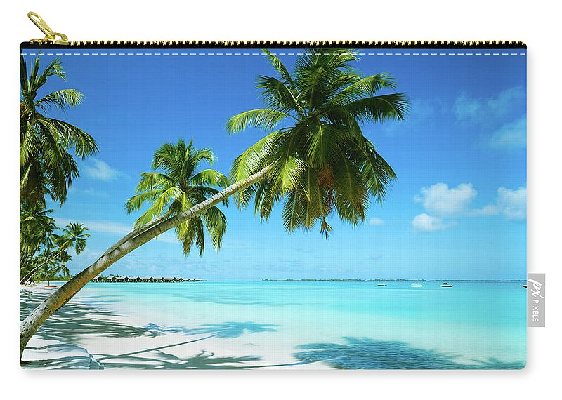 Water's Edge Carry-all Pouch featuring the photograph Beautiful Beach Resort by Phototalk