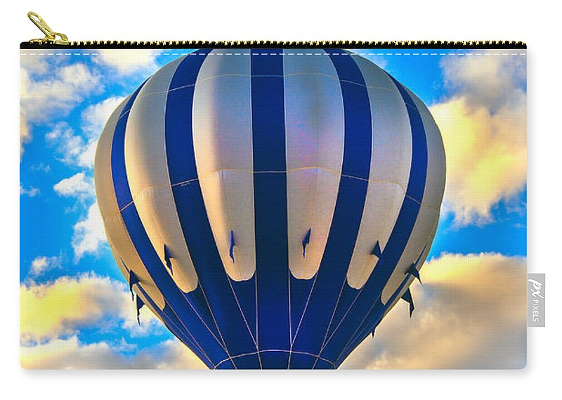 Carry-all Pouch featuring the photograph Beautiful Blue Hot Air Balloon by Robert Bales