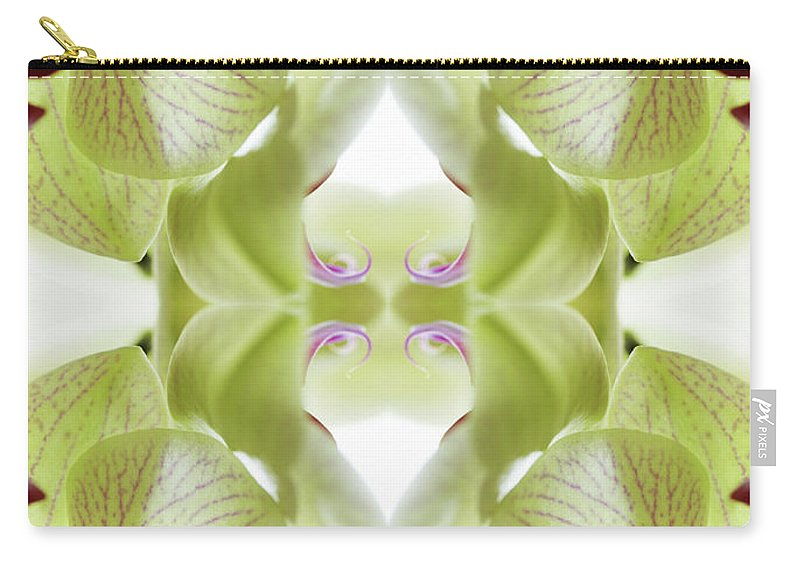 Tranquility Carry-all Pouch featuring the photograph Beautiful, Finely Textured Orchid by Silvia Otte