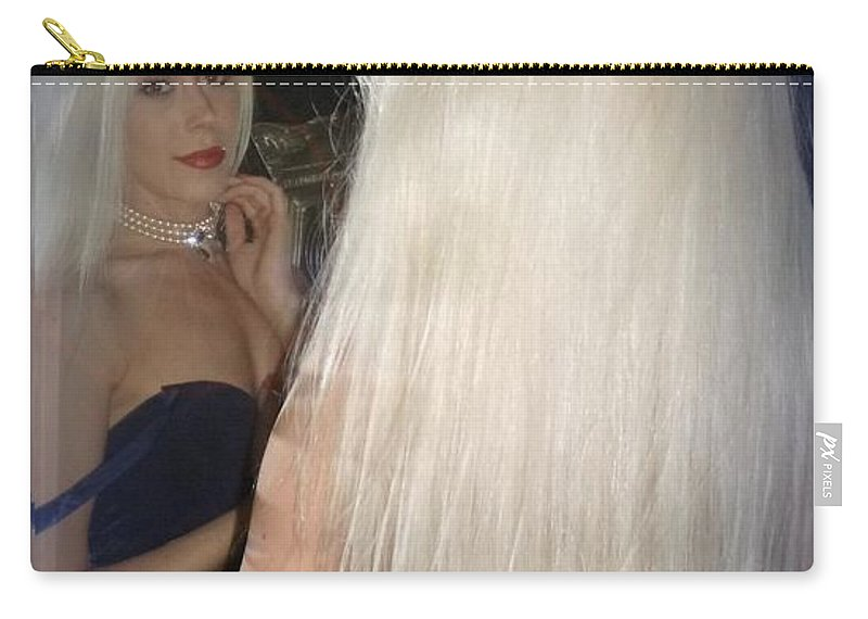 Blonde Carry-all Pouch featuring the photograph Beautiful Hair by Asa Jones