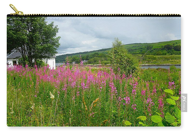 Scotland Carry-all Pouch featuring the photograph Beautiful Lochaline Landscape by Denise Mazzocco
