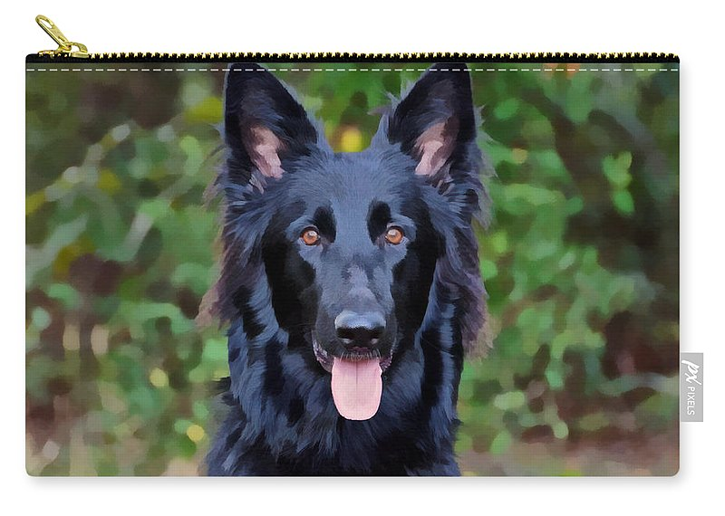 German Shepherd Carry-all Pouch featuring the photograph Beautiful Phoenix by Sandy Keeton