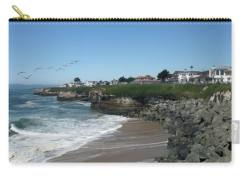 California Carry-all Pouch featuring the photograph Beautiful Santa Cruz Coast by Christiane Schulze Art And Photography