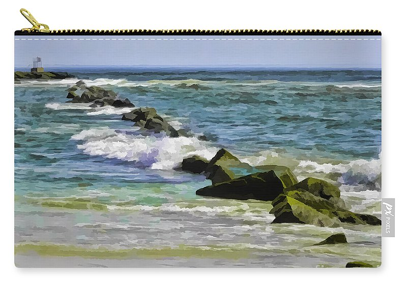 Landscape Carry-all Pouch featuring the photograph Beautiful Sea by Sami Martin