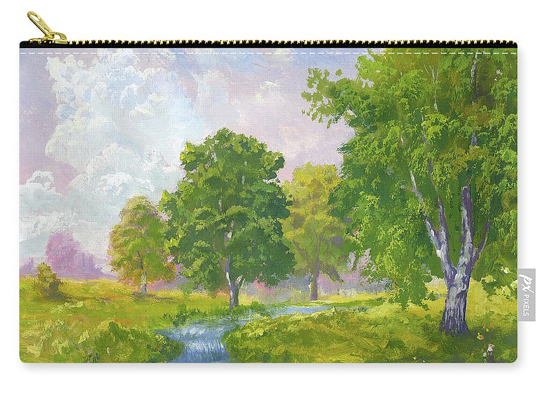 Scenics Carry-all Pouch featuring the digital art Beautiful Summer by Pobytov