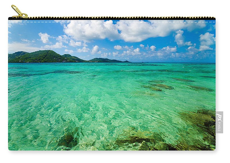 Bay Carry-all Pouch featuring the photograph Beautiful Turquoise Water by Jess Kraft