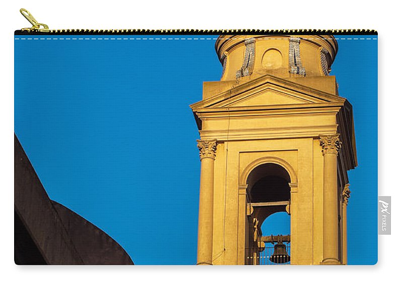 Yellow Carry-all Pouch featuring the photograph Beautiful Yellow Church Steeple by Jess Kraft