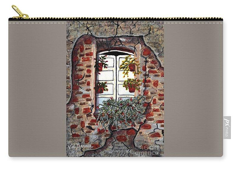Beauty After Destruction Carry-all Pouch featuring the painting Beauty After Destruction Window Art Prints by Valerie Garner