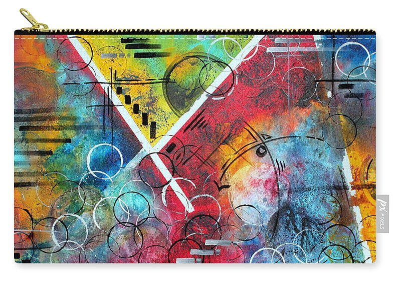 Wall Carry-all Pouch featuring the painting Beauty Amongst The Chaos By Madart by Megan Duncanson
