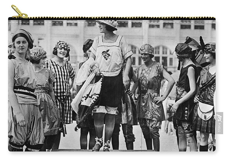 1921 Carry-all Pouch featuring the photograph Beauty Contest, 1921 by Granger
