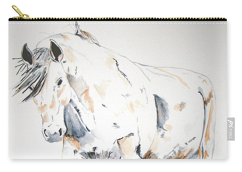 Horse Carry-all Pouch featuring the painting Beauty by Crystal Hubbard