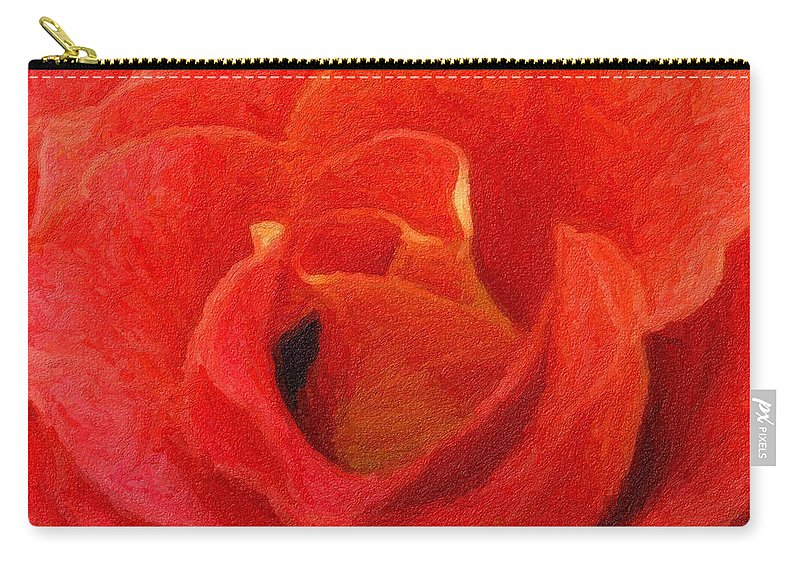 Flower Carry-all Pouch featuring the photograph Beauty - Digital Painting Effect by Rhonda Barrett