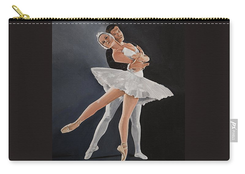 Ballet Carry-all Pouch featuring the painting Beauty In Motion by Bill Dunkley