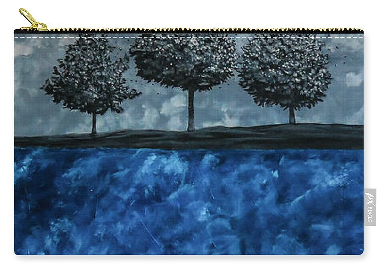 Surrealistic Carry-all Pouch featuring the painting Beauty In The Breakdown by Joel Tesch