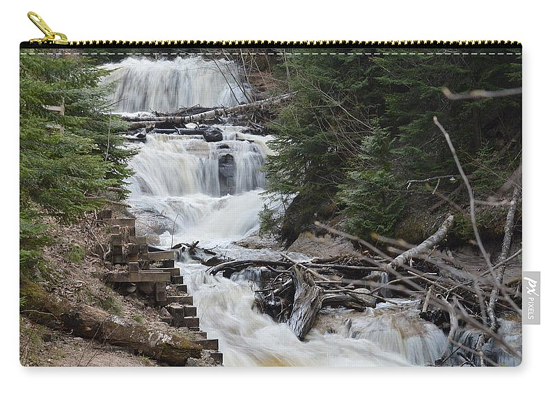 Sable Falls Carry-all Pouch featuring the photograph Beauty In The Woods by Linda Kerkau