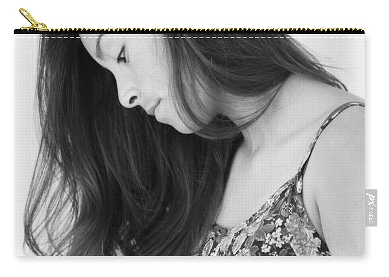 Girl In Flowers Carry-all Pouch featuring the photograph Beauty by Marianne Jimenez