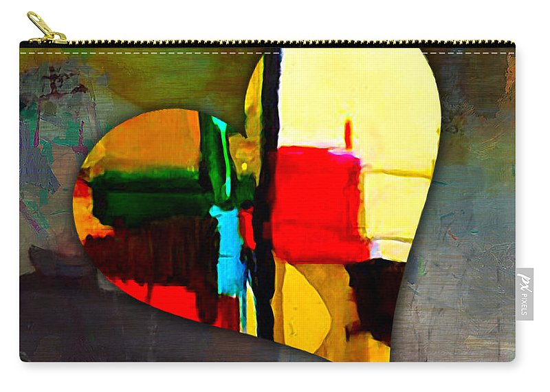 Heart Mixed Media Carry-all Pouch featuring the mixed media Beauty by Marvin Blaine