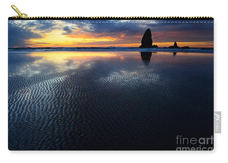 Cannon Beach Carry-all Pouch featuring the photograph Beauty Of Oregon Cannon Beach 1 by Bob Christopher