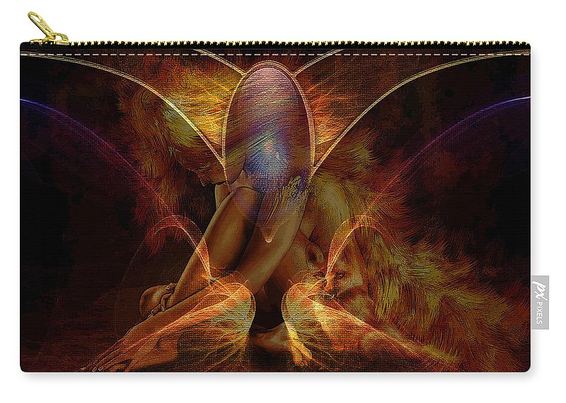 Beauty Carry-all Pouch featuring the digital art Beauty Painting by Marvin Blaine