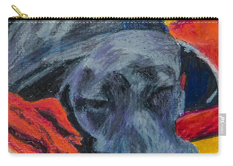 Labrador Retriever Carry-all Pouch featuring the painting Beauty Rest by Roger Wedegis