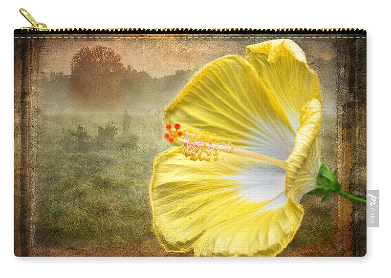 Hibiscus Carry-all Pouch featuring the photograph Beauty Served Two Ways by Garvin Hunter
