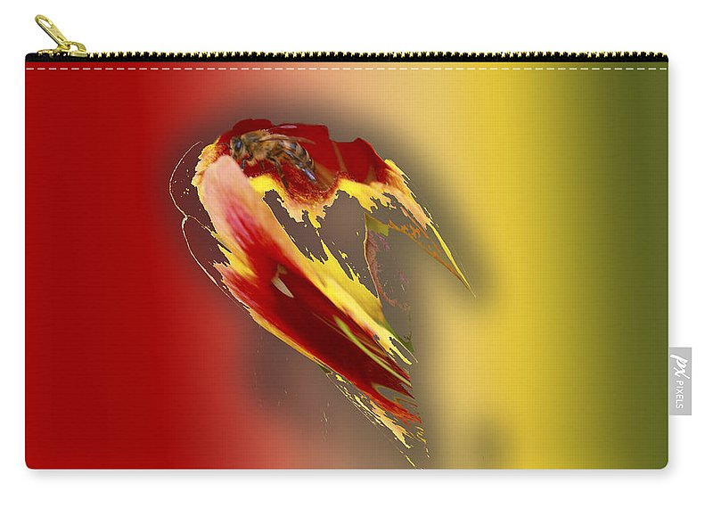 Landscapes Carry-all Pouch featuring the digital art Bee 2 by Steve Herndon