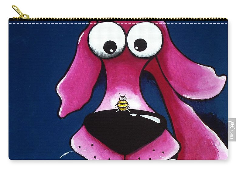 Pet Carry-all Pouch featuring the painting Beehave by Lucia Stewart
