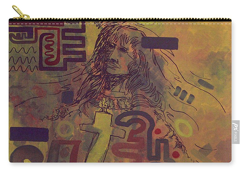 Abstract Carry-all Pouch featuring the painting Before And After by Tonya Henderson