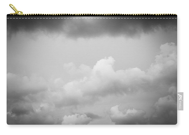 Clouds Carry-all Pouch featuring the photograph Before The Storm Clouds Stratocumulus Bw 11 by Rich Franco