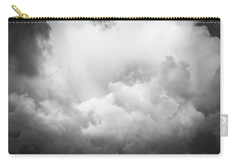 Clouds Carry-all Pouch featuring the photograph Before The Storm Clouds Stratocumulus Bw 8 by Rich Franco