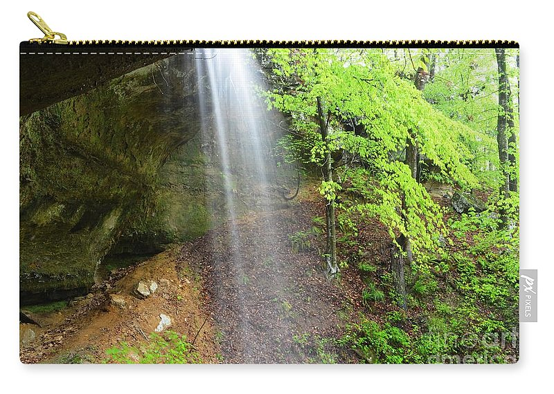 Waterfalls Carry-all Pouch featuring the photograph Behind The Curtain by Deanna Cagle