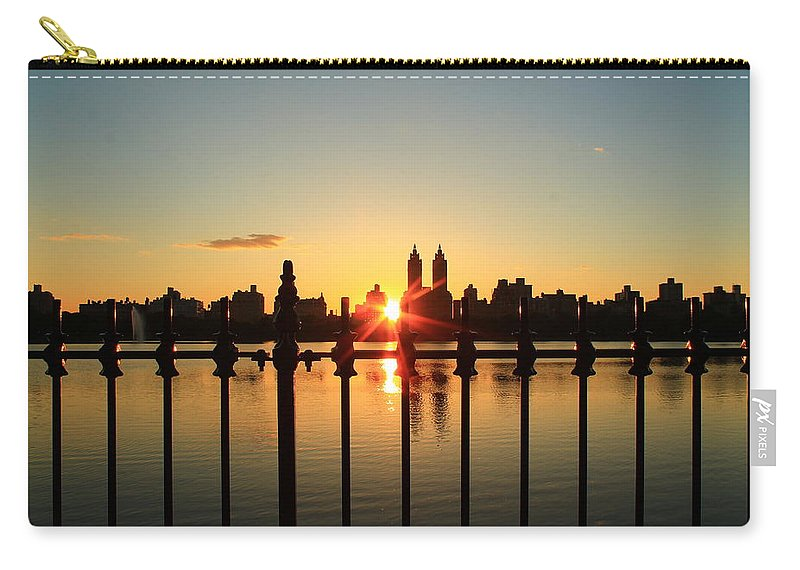 Central Park Carry-all Pouch featuring the photograph Behind The Gates by Catie Canetti