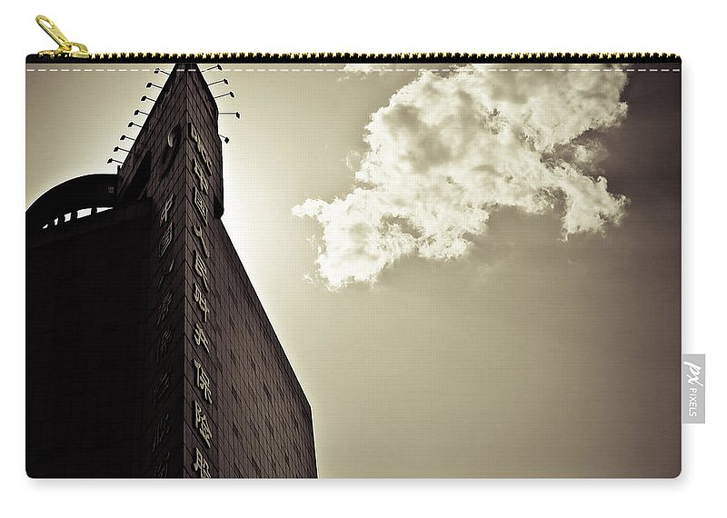 Beijing Carry-all Pouch featuring the photograph Beijing Cloud by Dave Bowman