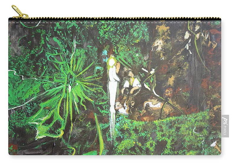 Fantasy Carry-all Pouch featuring the painting Being Of Light by Stefan Duncan