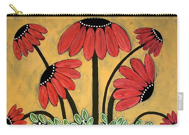 Daisy Carry-all Pouch featuring the painting Bejeweled by Linda Stewart