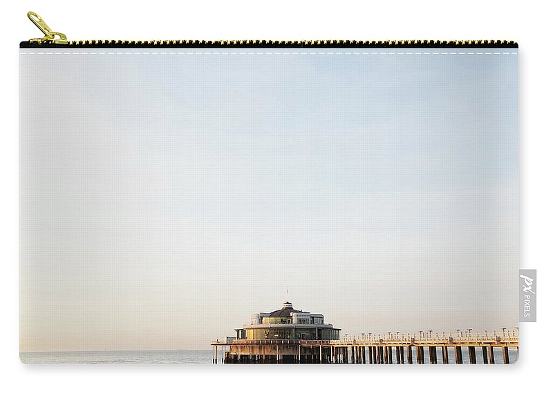 Tranquility Carry-all Pouch featuring the photograph Belgium, Blankenberge, View Of Pier At by Westend61