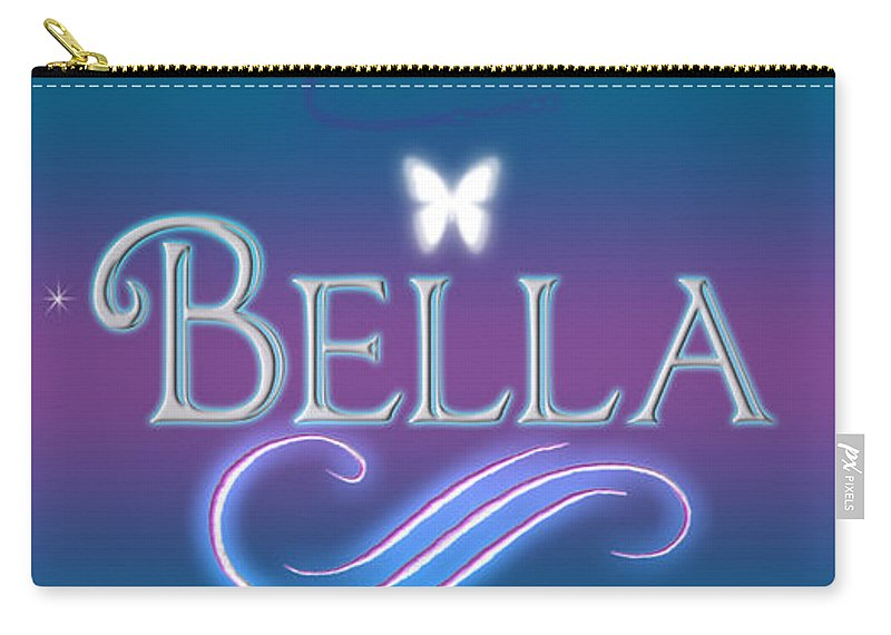 79f136c2cbb60 Abby Carry-all Pouch featuring the digital art Bella Name Art by Becca  Buecher